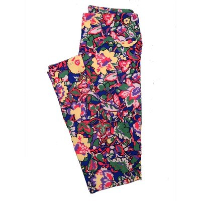 LuLaRoe One Size OS Floral Leggings (OS fits Adults 2-10) OS-4070-H
