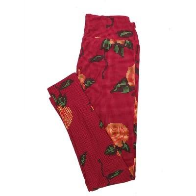LuLaRoe One Size OS Floral Leggings (OS fits Adults 2-10) OS-4071-G2