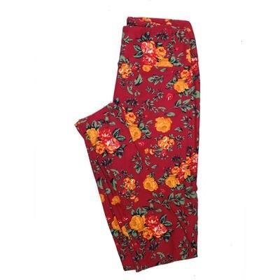 LuLaRoe One Size OS Floral Leggings (OS fits Adults 2-10) OS-4071-P