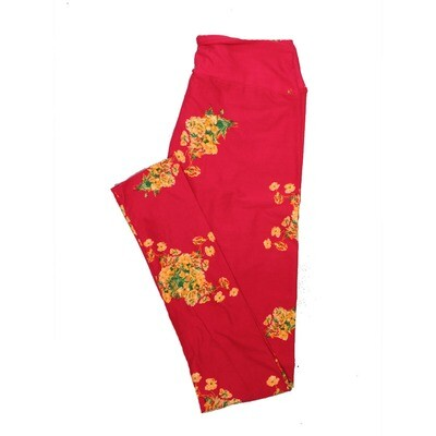 LuLaRoe One Size OS Floral Leggings (OS fits Adults 2-10) OS-4063-S