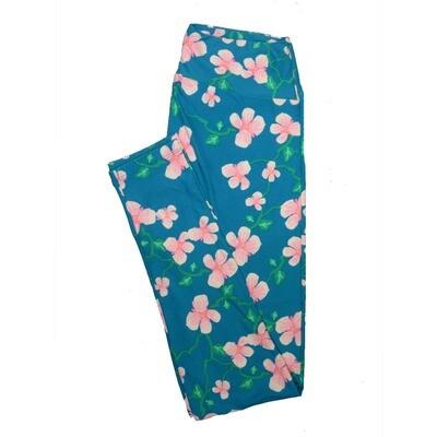 LuLaRoe One Size OS Floral Leggings (OS fits Adults 2-10) OS-4064-G