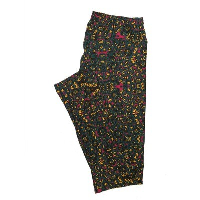 LuLaRoe One Size OS Floral Leggings (OS fits Adults 2-10) OS-4064-S