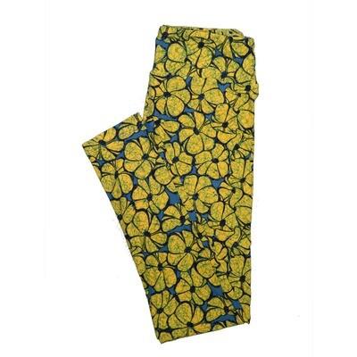 LuLaRoe One Size OS Floral Leggings (OS fits Adults 2-10) OS-4065-C2