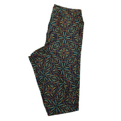 LuLaRoe One Size OS Psychedelic 70's and Trippy Leggings (OS fits Adults 2-10) OS-4022-X