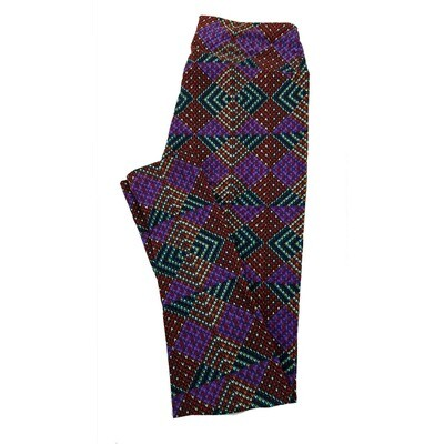LuLaRoe One Size OS Psychedelic 70's and Trippy Leggings (OS fits Adults 2-10) OS-4023-E