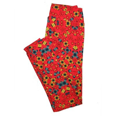 LuLaRoe One Size OS Psychedelic 70's and Trippy Leggings (OS fits Adults 2-10) OS-4075-M