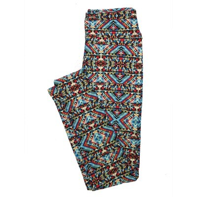 LuLaRoe One Size OS Psychedelic 70's and Trippy Leggings (OS fits Adults 2-10) OS-4076-A