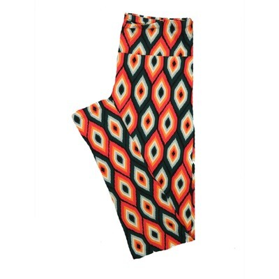 LuLaRoe One Size OS Psychedelic 70's and Trippy Leggings (OS fits Adults 2-10) OS-4076-K