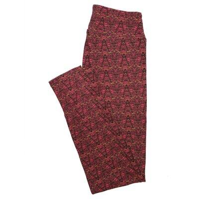 LuLaRoe One Size OS Psychedelic 70's and Trippy Leggings (OS fits Adults 2-10) OS-4076-Q