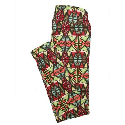 LuLaRoe One Size OS Psychedelic 70's and Trippy Leggings (OS fits Adults 2-10) OS-4077-B