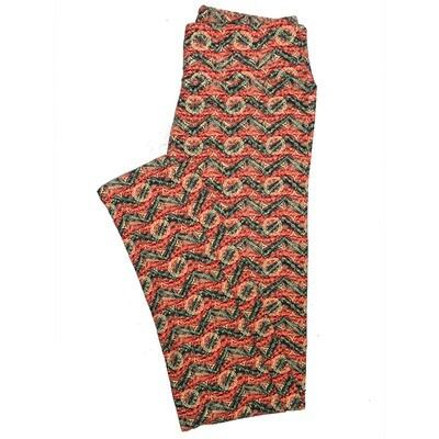 LuLaRoe One Size OS Psychedelic 70's and Trippy Leggings (OS fits Adults 2-10) OS-4078-A