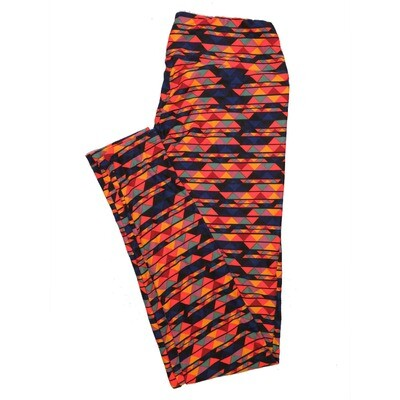 LuLaRoe One Size OS Psychedelic 70's and Trippy Leggings (OS fits Adults 2-10) OS-4078-C