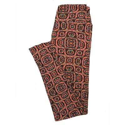 LuLaRoe One Size OS Psychedelic 70's and Trippy Leggings (OS fits Adults 2-10) OS-4078-L