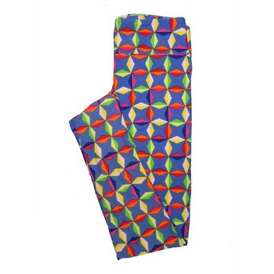 LuLaRoe One Size OS Psychedelic 70's and Trippy Leggings (OS fits Adults 2-10) OS-4078-N