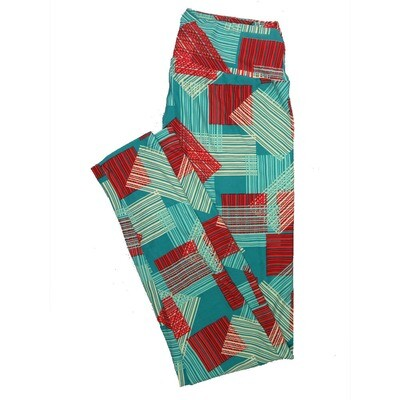 LuLaRoe One Size OS Stripes, Zig Zags and Chevrons Leggings (OS fits Adults 2-10) OS-4072-G