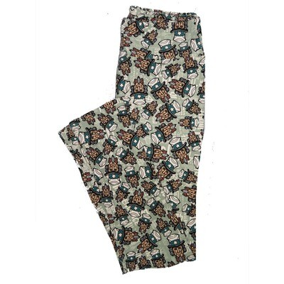 LuLaRoe One Size OS Animals Stars and Objects Leggings (OS fits Adults 2-10) OS-4094-L