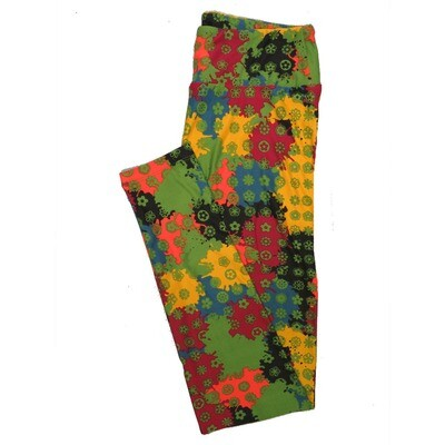 LuLaRoe One Size OS Animals Stars and Objects Leggings (OS fits Adults 2-10) OS-4096-F