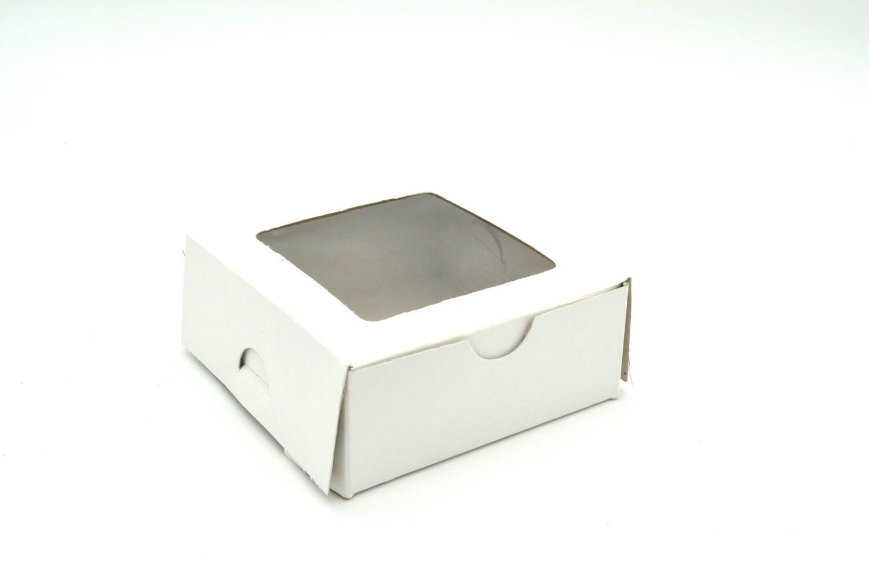 Cake Box Window 4 x 4 x 1.5 White (ea)