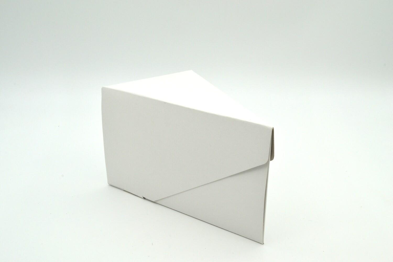 Cake Box Single Slice - White (each)