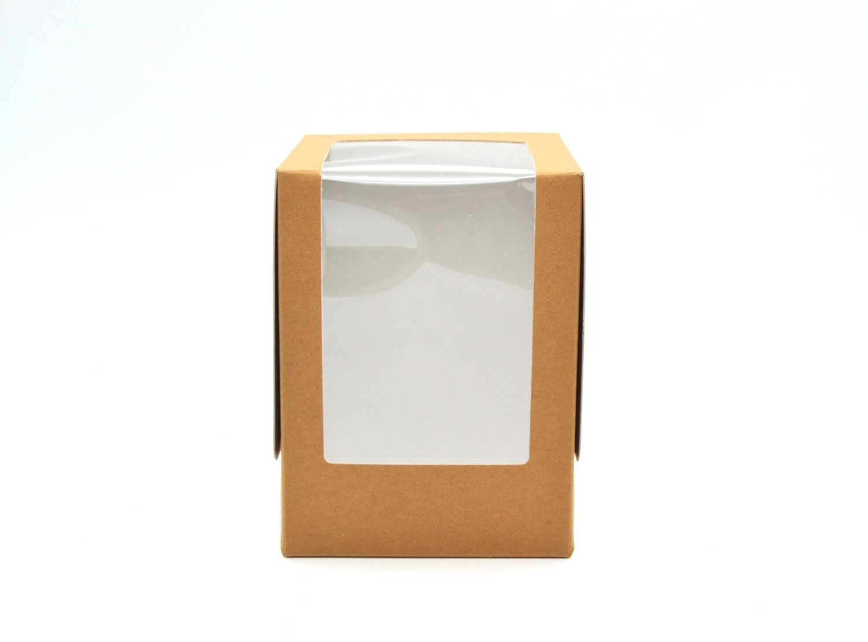 CupCake Single Box Window 100x100x135 Kraft - LRG (ea)