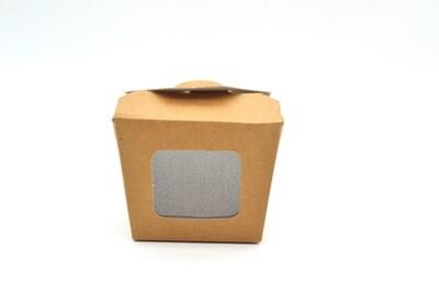 Box Pail (Chinese) Meal Box 10oz Window Kraft (Qty 25)