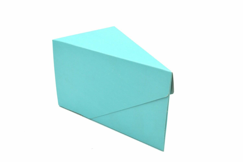 Cake Box Single Slice - Vintage Blue (ea)