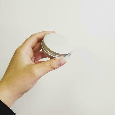 Aluminium Screw top Tin 50g Silver