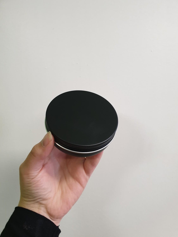 Aluminium Screw Top Tin 100g Black