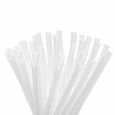 Bio Straws 6mm - Natural Unwrapped (Qty100)