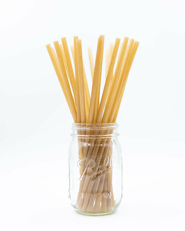 Bio Straws Wrapped Sugarcane 8mm x 210mm (Qty100)