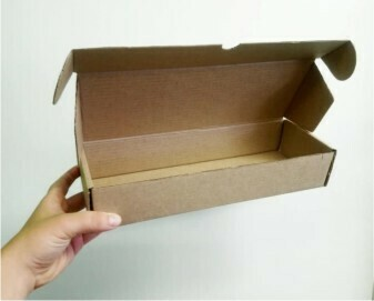 Box Corrugated Patti 300mm x 110mm x 60mm Kraft (ea)
