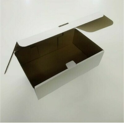 Box Corrugated Burger & Chips - 260x160x80 White (ea)