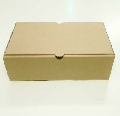 Box Corrugated Burger & Chips - 260x160x80 Kraft (ea)