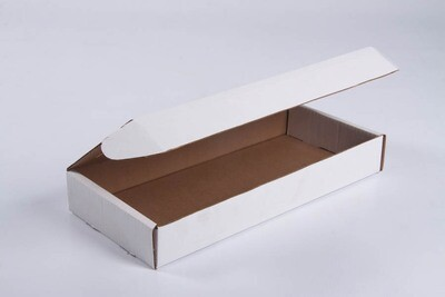 Box Corrugated 2kg 342x218x63mm White (ea)