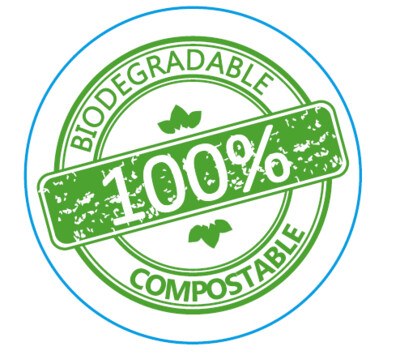 Labels Round Paper - 100% Biodegradable / Compostable (Qty 100)