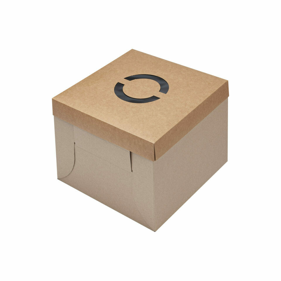 Cake Box Corrugated Kraft 12