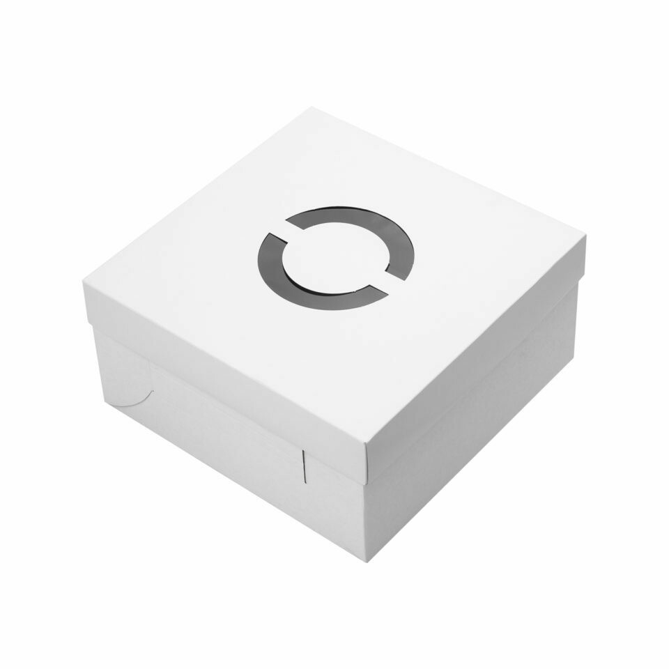 Cake Box Corrugated Base White 12