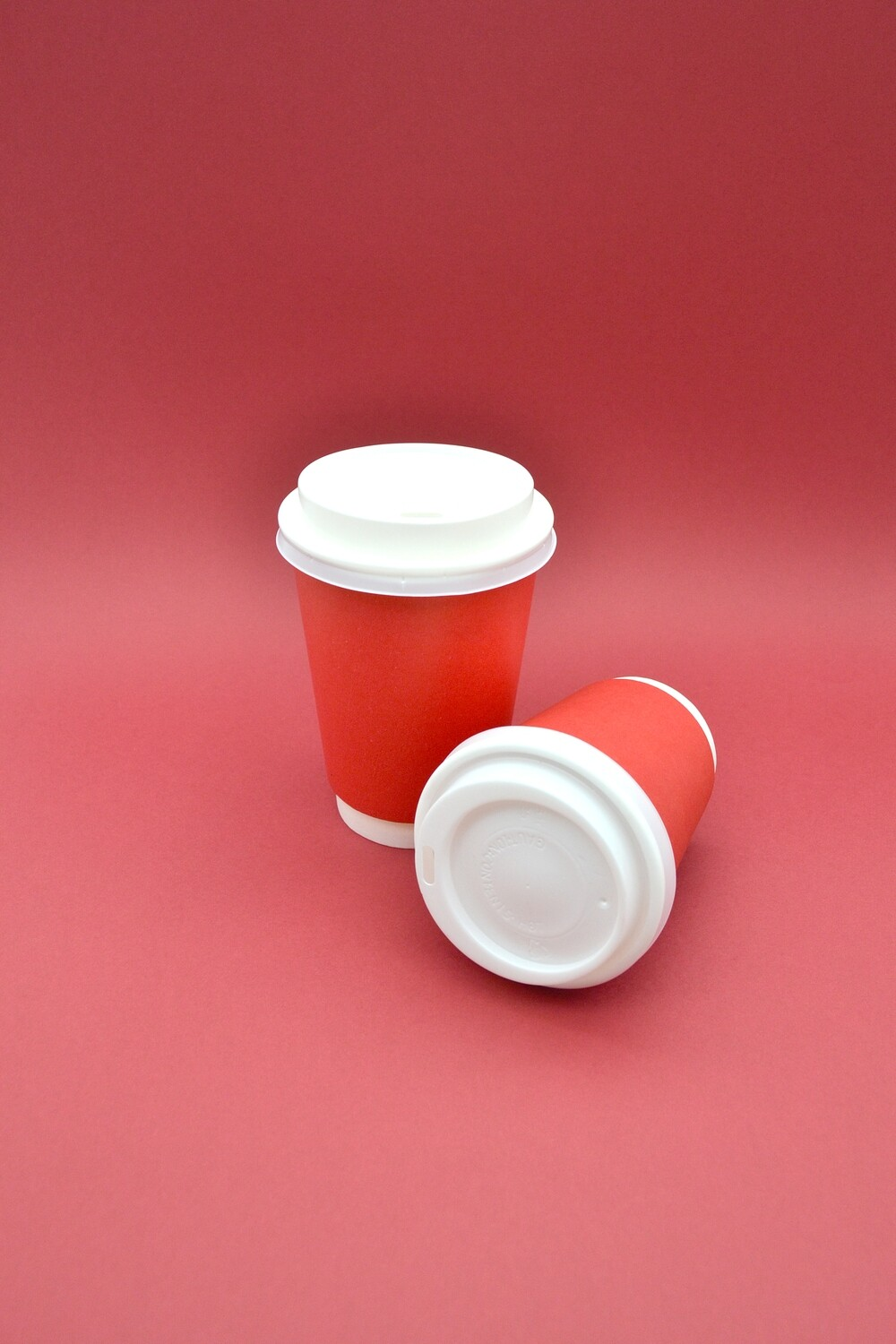 Coffee Cups Double Wall 350ml - Red (Qty 50)