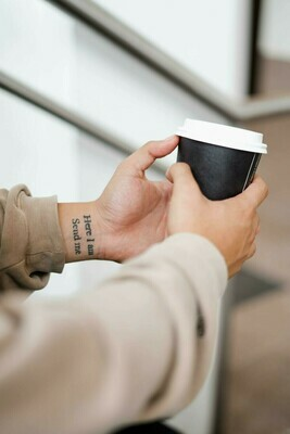 Coffee Cups Double Wall 350ml - Black (Qty 50)