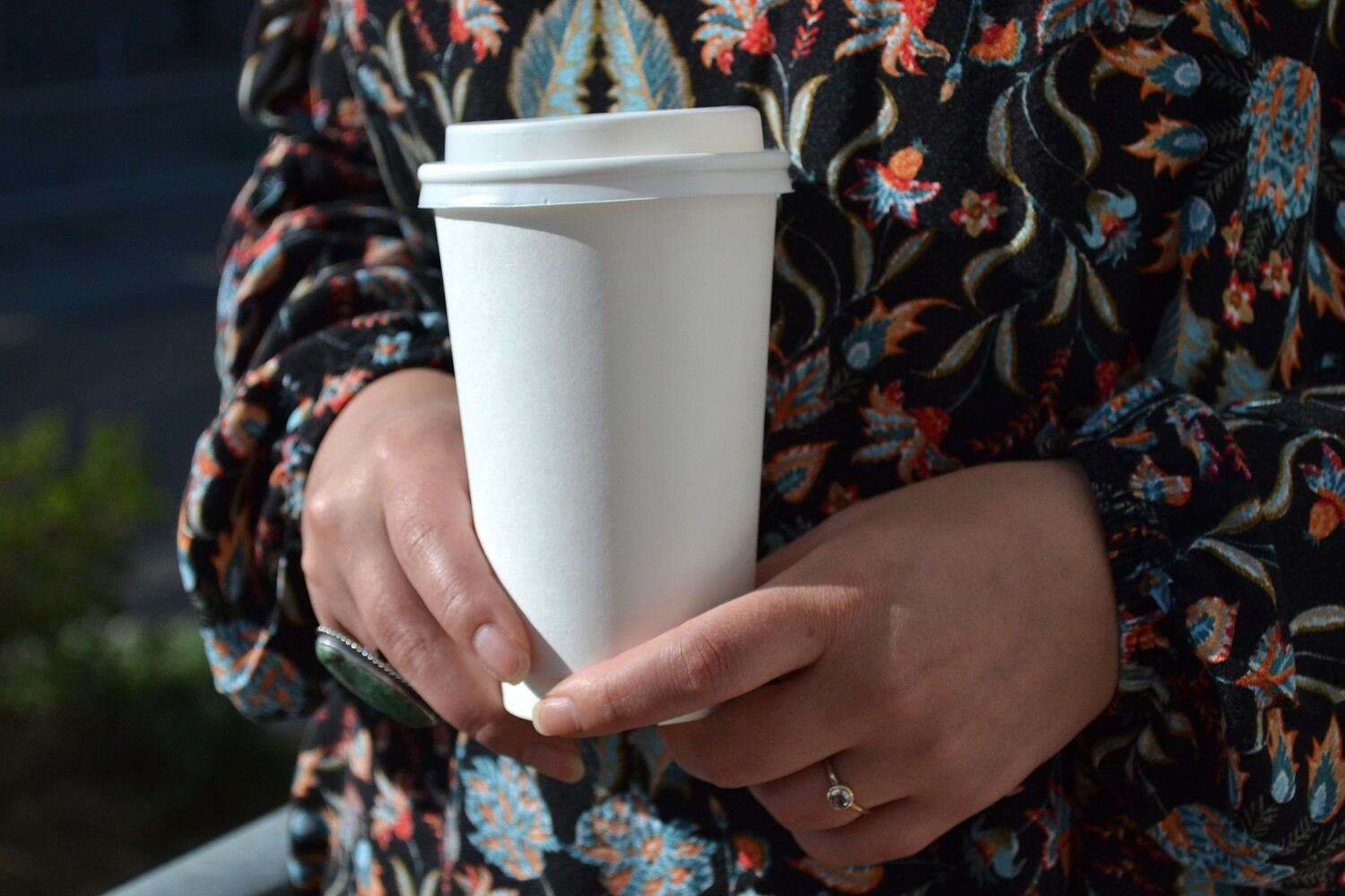 Coffee Cups Double Wall 500ml - White (Qty 50)