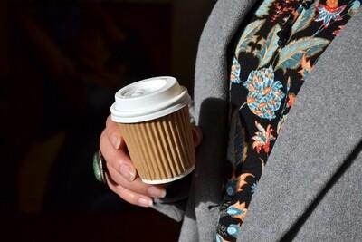 Coffee Cups Ripple Espresso 100ml - Kraft (Qty 50)