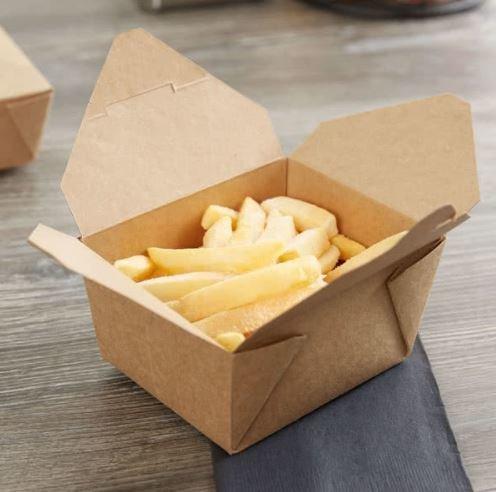 Eco Kraft PLA Biodegradable Lunch Box no 1 Small (Qty 50)