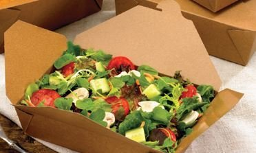 BIO Food Compostable (PLA) Lunch Box - Kraft #3 (Qty 50)