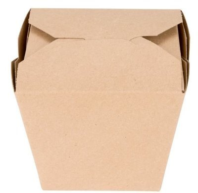 Box Noodle Polycoated Eco Kraft 32oz (Qty 25)