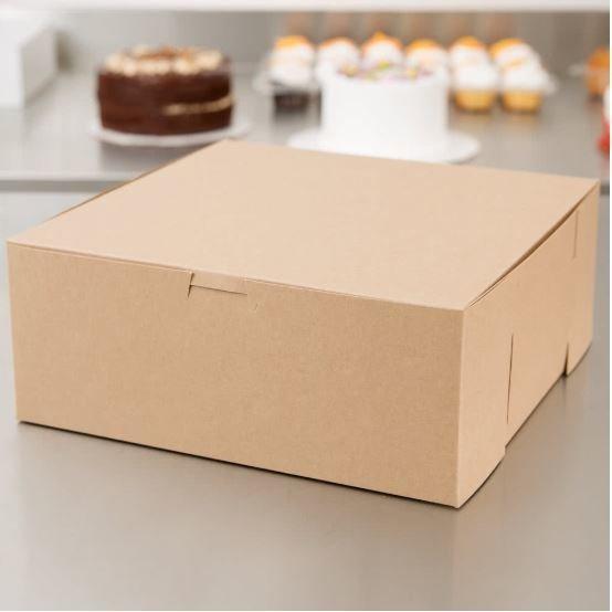 Cake Box Eco Brown 10 x 10 x 4 (ea)