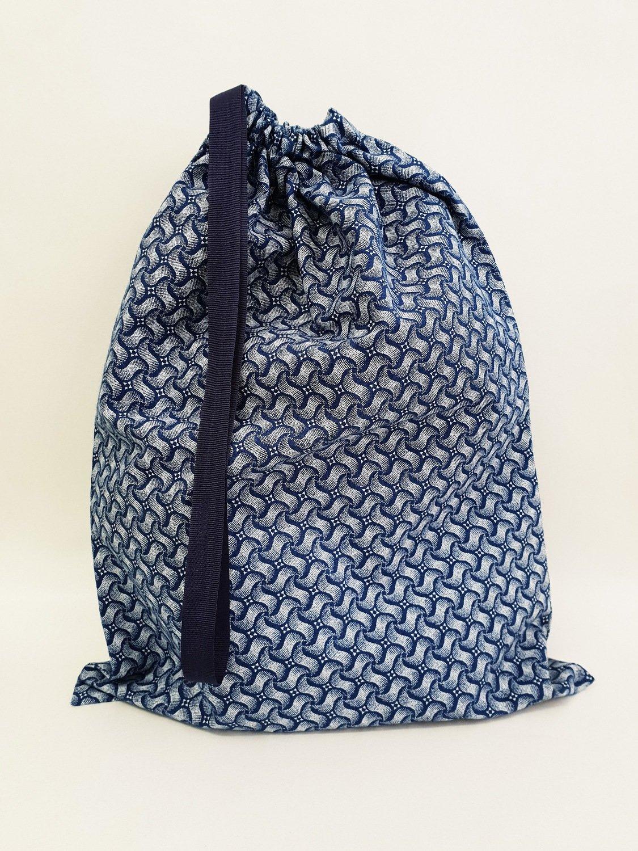 Shweshwe Bag Blue+White - Large
