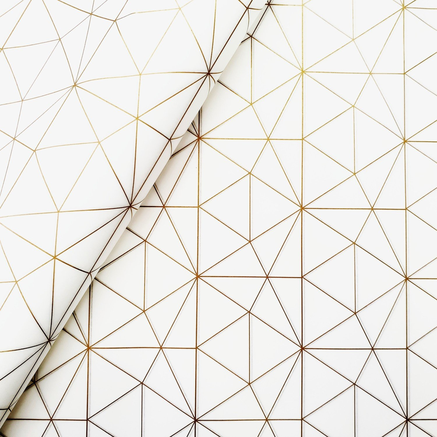 Tissue Paper - Geometric - Gold On White (Qty 25)