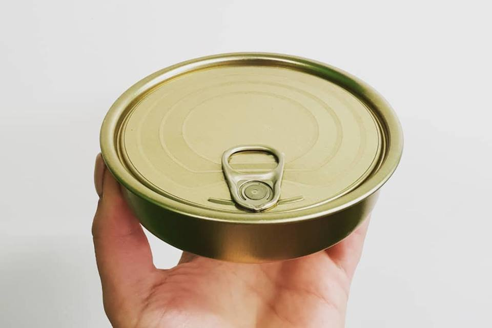 Tin Can & Lid - Round Sardine (each)