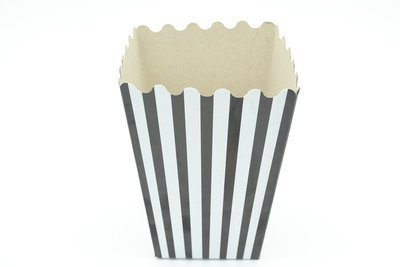 Box Popcorn Black & White Stripe Small (each)