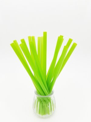 Bio Straws 8mm - Green Unwrapped (Qty 100)